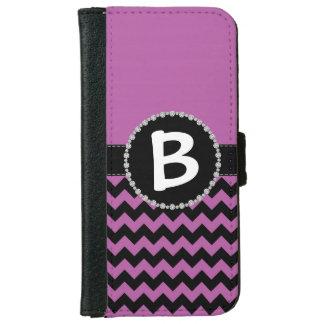 Purple Chevron, Diamond Ribbon Flap iPhone 6 Wallet Case