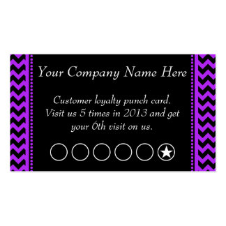 Purple Chevron Discount Promotional Punch Card Double-Sided Standard Business Cards (Pack Of 100)