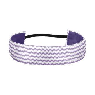 Purple Chevron Double Satin Non-Slip Headband