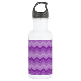 Purple Chevron Faded 18oz Water Bottle