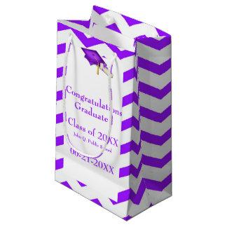 Purple Chevron Graduation Gift Bag Small Gift Bag