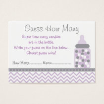 Purple Chevron Guess How Many Cards