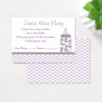 Purple Chevron Guess How Many Game Business Card