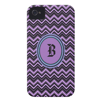 Purple Chevron Initial Iphone4/4s case iPhone 4 Cases
