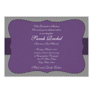 Purple Chevron Invitation