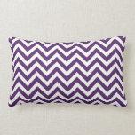 Purple Chevron Lumbar Pillow