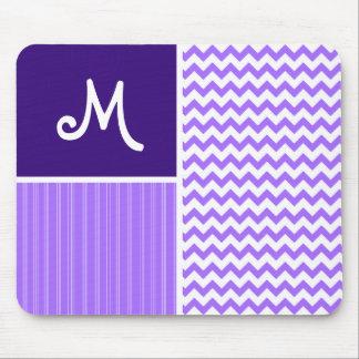 Purple Chevron Pattern Mouse Pad