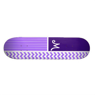 Purple Chevron Pattern Skate Board Deck