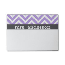 Purple Chevron Post It Notes - Personalize
