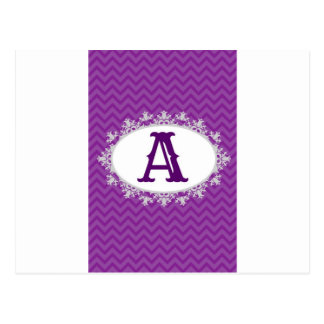 Purple Chevron Postcard