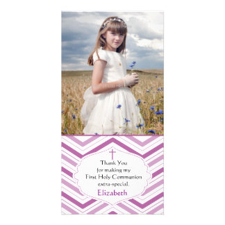 Purple Chevron, Religious Photo Card