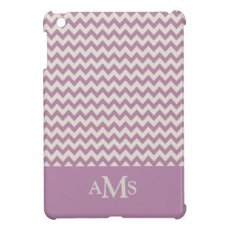 Purple Chevron Stripe 3  Monogram Case For The iPad Mini