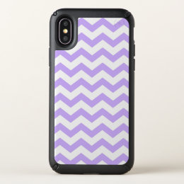 Purple Chevron Stripes Wristwatch Speck iPhone X Case