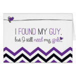 Purple Chevron Will you be my Bridesmaid? Card