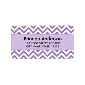 Purple chevron zigzag pattern return address address label