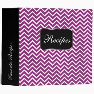 Purple Chevron Zigzag Stripes 3 Ring Binder