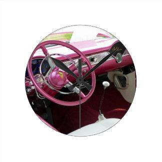 Purple Chevy Bel Air Round Clock