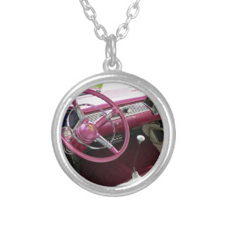 Purple Chevy Bel Air Silver Plated Necklace