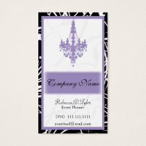 purple Chic Business Cards