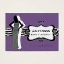 purple chic fashion boutique Business Cards