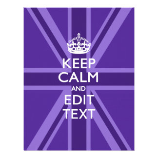 Purple Chic Keep Calm And Your Text Union Jack Flyer