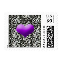 purple chic wedding stamps