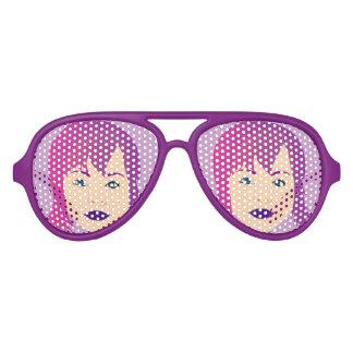 Purple Chick For Invisible Illness Awareness Sunglasses
