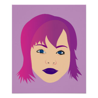 Purple Chick For Invisible Illness Awareness Print