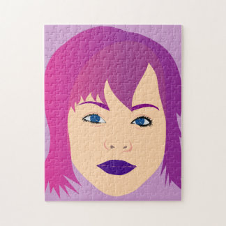 Purple Chick For Invisible Illness Awareness Puzzle