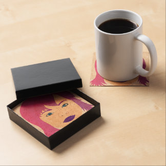 Purple Chick For Invisible Illness Awareness Drink Coaster