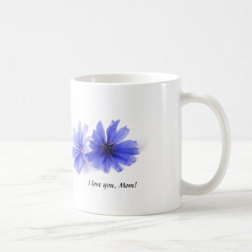 Purple Chicory Flowers Mom Mug
