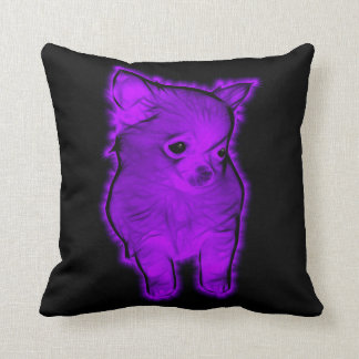 Purple Chihuahua Throw Pillows