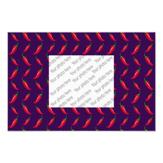 purple chili peppers pattern photographic print