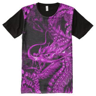 Purple Chinese Dragon Art All-Over-Print Shirt