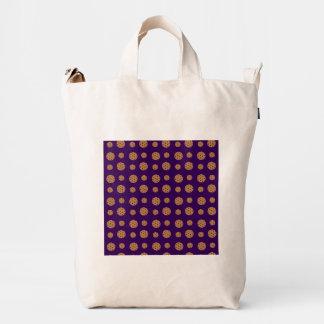 Purple chocolate chip cookies pattern duck bag