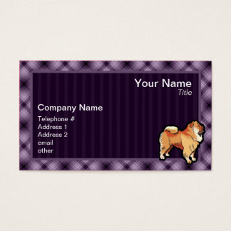 Purple Chow Chow Business Card