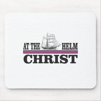 purple Christ at the helm Mouse Pad