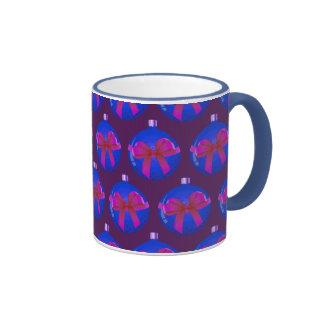 Purple Christmas Bauble Pattern Mugs