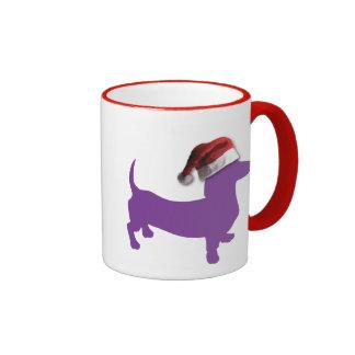 Purple Christmas Dachshund Mug