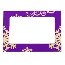 Purple Christmas Magnetic Frame