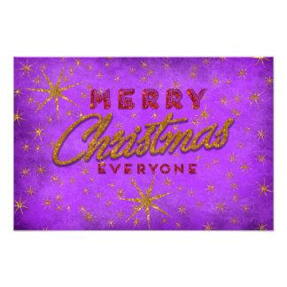 Purple Christmas Photo Print