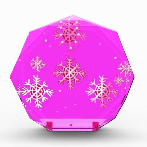 Purple Christmas & Snow flakes Gifts by Sharles Acrylic Award