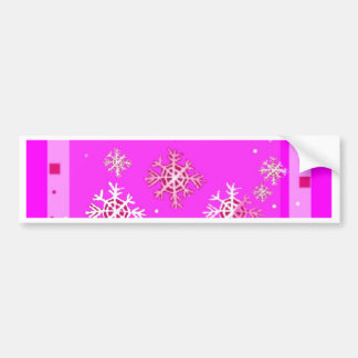 Purple Christmas & Snow flakes Gifts by Sharles Car Bumper Sticker