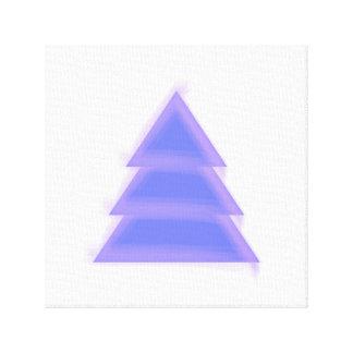 Purple Christmas Tree {} Canvas Print