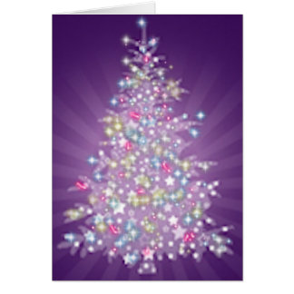 Purple Christmas Tree Greeting Card