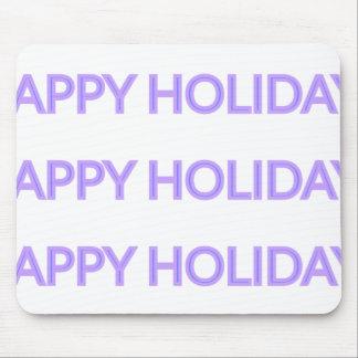 Purple Christmas Tree {} Happy Holidays Version Mouse Pad