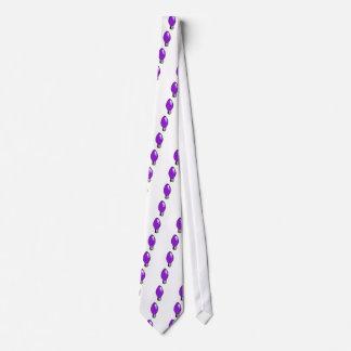 Purple Christmas Tree light Neck Tie