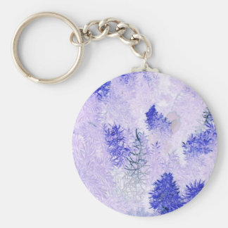 purple Christmas tree products Keychain