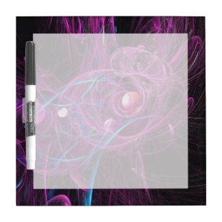 Purple Chronic Pain Fractal Dry Erase Whiteboard