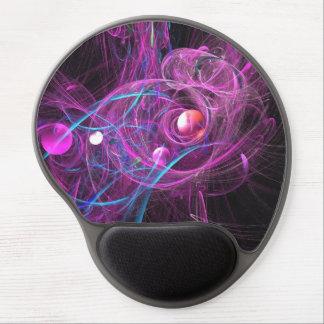 Purple Chronic Pain Fractal Gel Mouse Pad